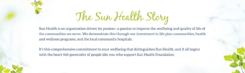 The Sun Health Story